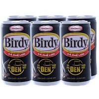 Cà phê đen Birdy lon 170ml (lốc 6 lon)