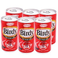 Cà phê sữa Birdy lon 170ml (lốc 6 lon)