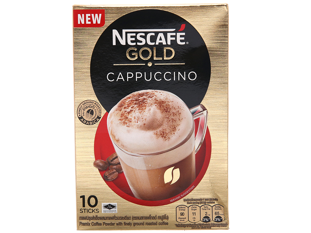 Cà phê hòa tan Cappuccino NesCafé Gold 205g 1