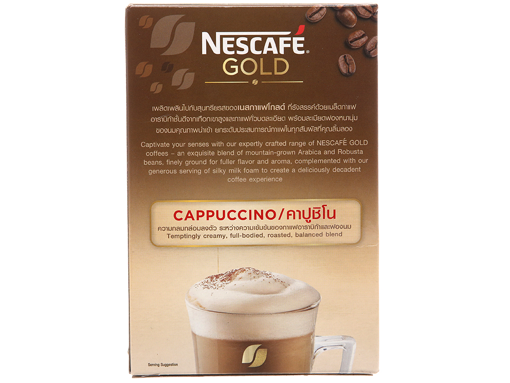 Cà phê hòa tan Cappuccino NesCafé Gold 205g 2