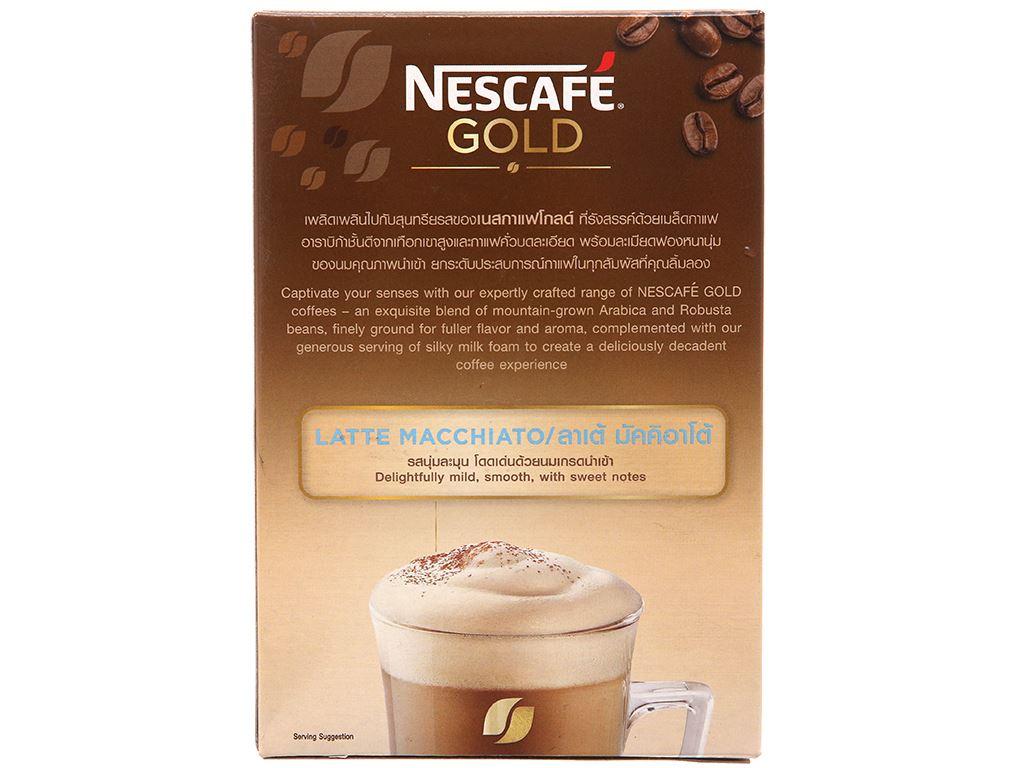 Cà phê hòa tan Latte Macchiato NesCafé Gold 205g 2
