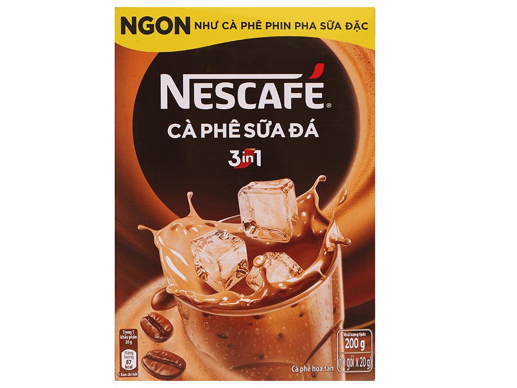 Cà phê sữa đá NesCafé 3 in 1 200g 2