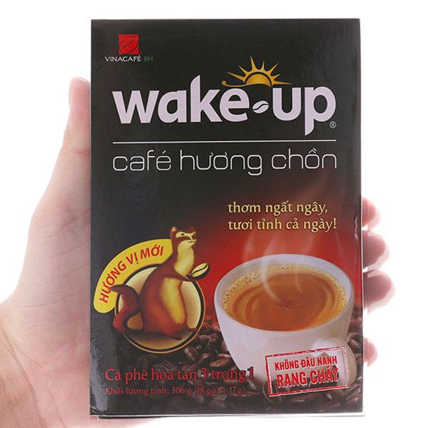 Cà phê hòa tan Wake Up Hương chồn 306g (17g x 18 gói)