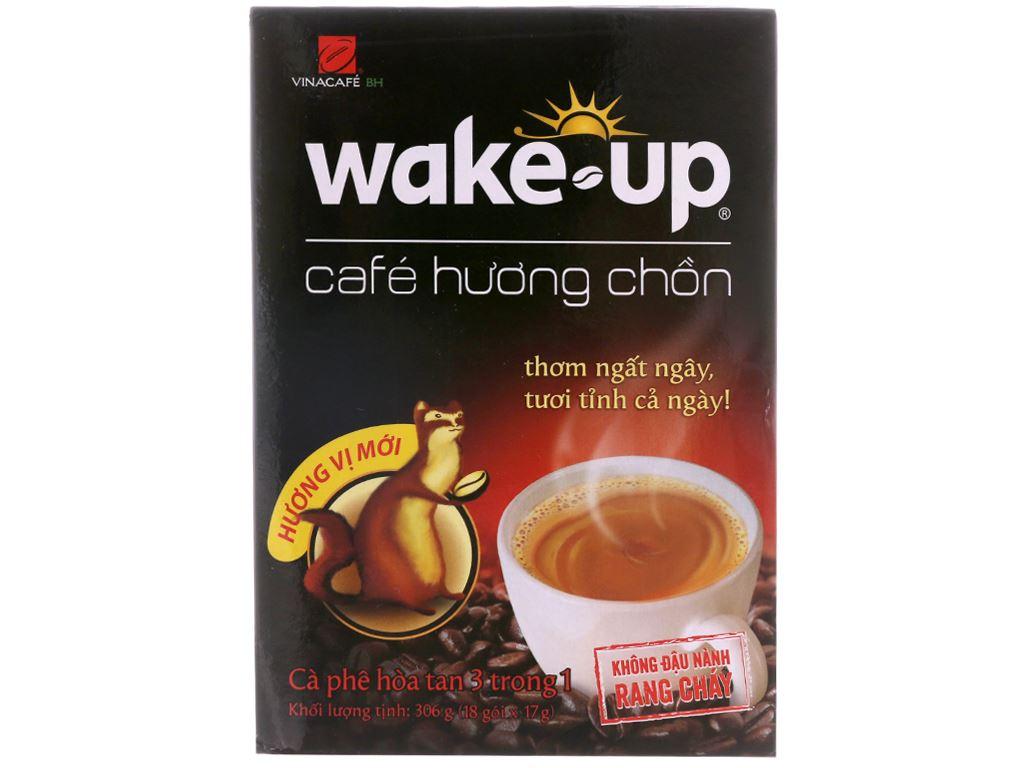 Cà phê sữa Wake Up 3 trong 1 hương chồn 306g 2