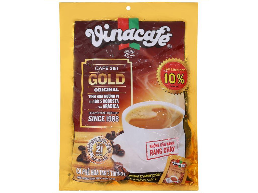 Cà phê sữa VinaCafé Gold Original 800g 1