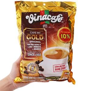 Cà phê sữa hòa tan VinaCafe 3 in 1 Gold Original bịch 800g (20g x 40 gói)