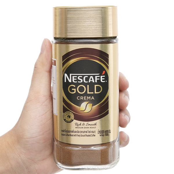 Cà phê đen hòa tan NesCafé Gold Crema 100g