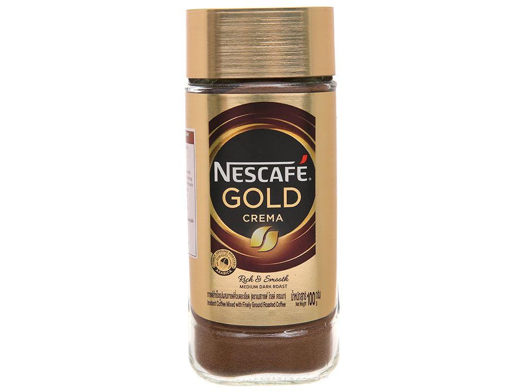 Cà phê đen hòa tan NesCafé Gold Crema 100g 1