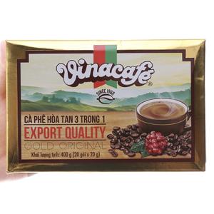 Cà phê sữa hòa tan VinaCafe Gold Original hộp 400g (20g x 20 gói)