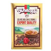 Cà phê sữa hoà tan Vinacafe Gold 3 trong 1 hộp 20 gói