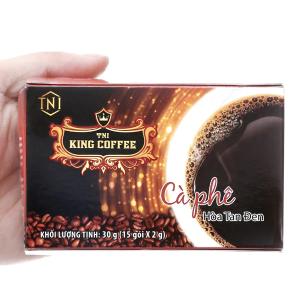 Cà phê đen hòa tan King Coffee hộp 30g (2g x 15 gói)