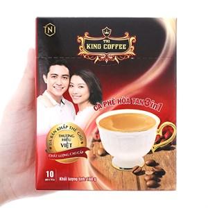 Cà phê sữa hòa tan King Coffee 3 trong 1 hộp 160g (16g x 10 gói)