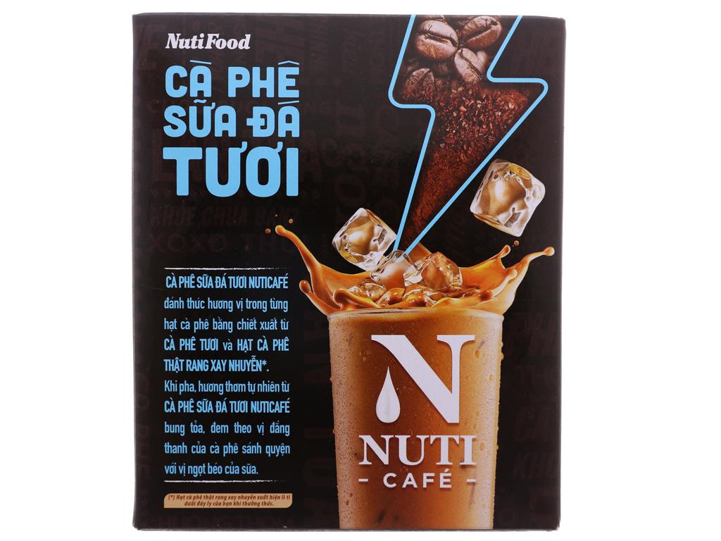 Cà phê sữa đá tươi NutiFood 3 trong 1 240g (24g x 10 gói) 3