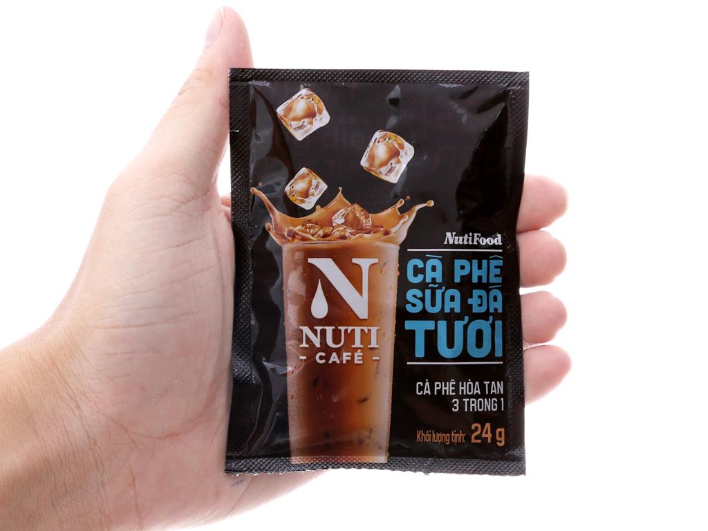 Cà phê sữa đá tươi NutiFood 3 trong 1 240g (24g x 10 gói) 5