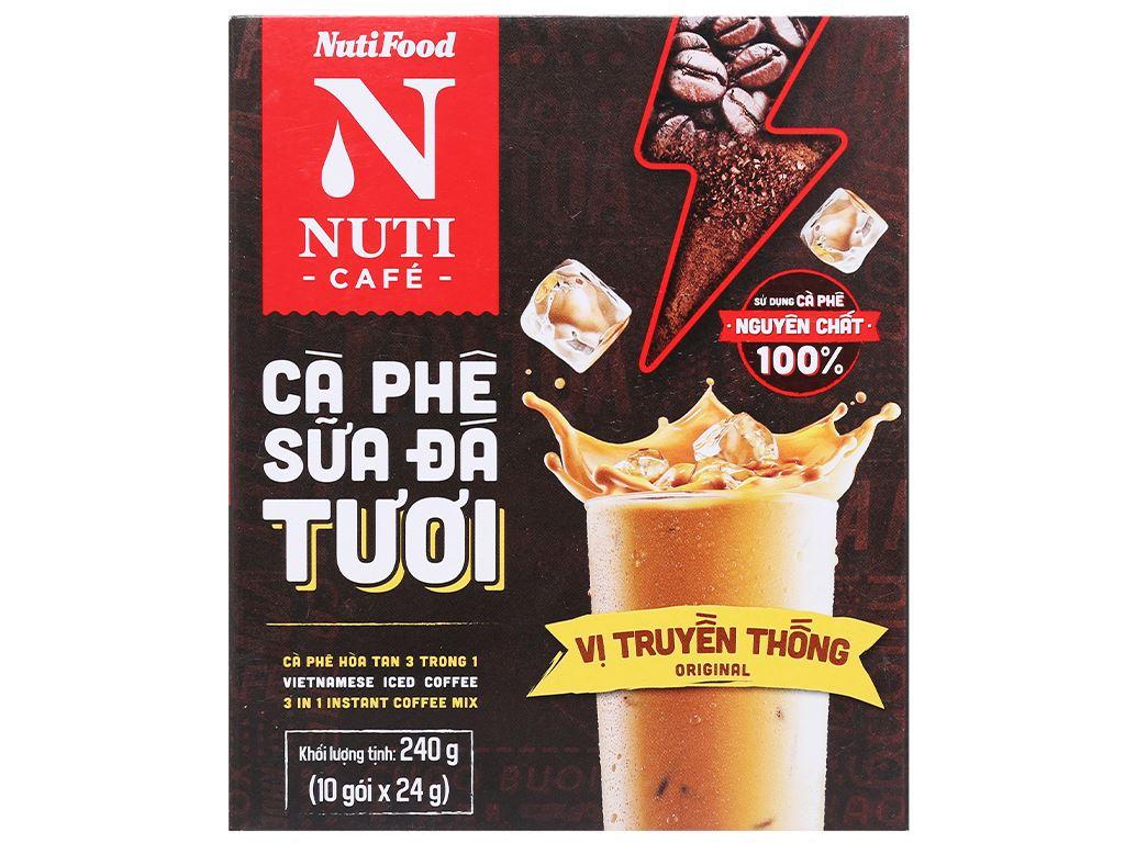 Cà phê sữa đá tươi NUTICAFÉ 3 trong 1 240g 1