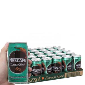 24 lon cà phê sữa NesCafé Espresso Roast 180ml