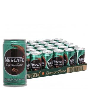 Thùng 24 lon cà phê sữa NesCafé Espresso Roast 180ml