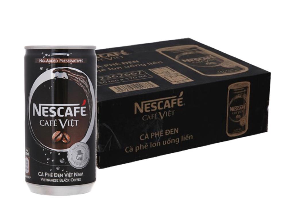 30 lon cà phê đen NesCafé Café Việt 170ml 1