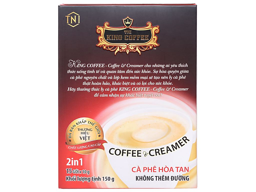 Cà phê sữa TNI King Coffee Coffee & Creamer 150g 2