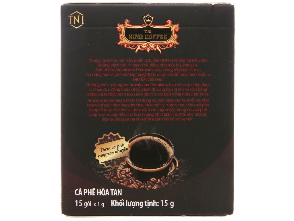Cà phê đen TNI King Coffee Americano Premium 15g 2