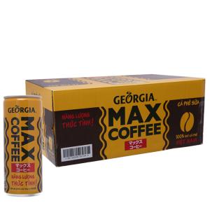 Thùng 24 lon cà phê sữa Georgia Max Coffee 235ml