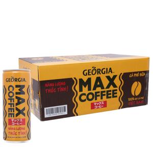 24 lon cà phê sữa Georgia Max Coffee 235ml