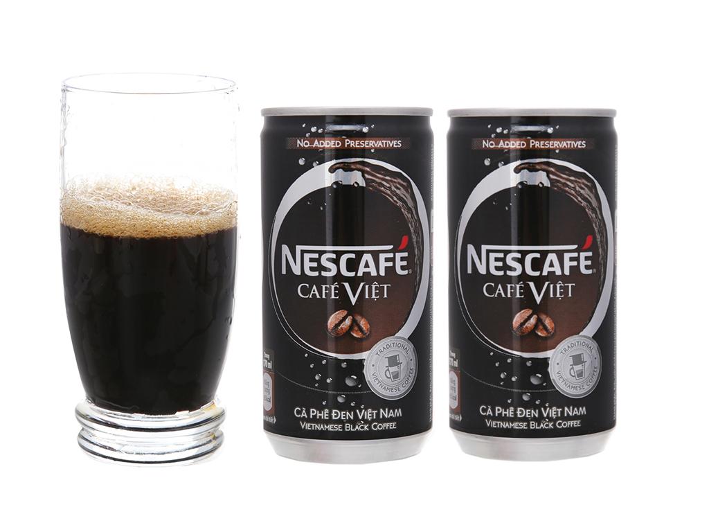 Cà phê đen NesCafé Café Việt lon 170ml 1