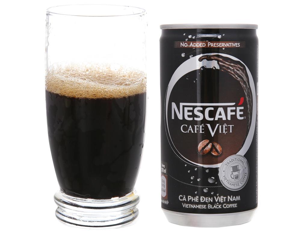 Cà phê đen NesCafé Café Việt lon 170ml 2