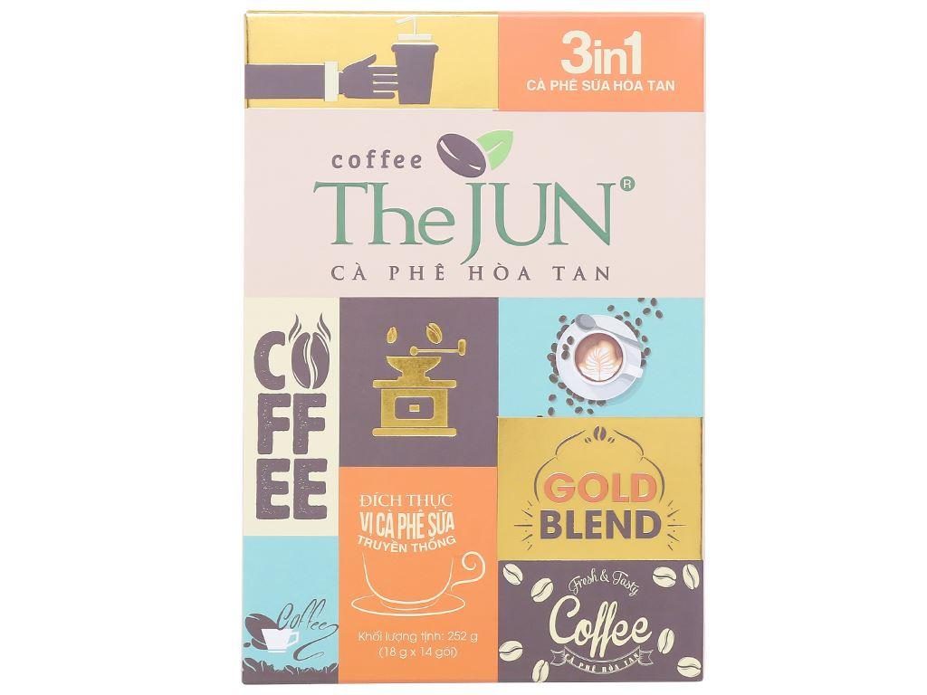 Cà phê sữa The JUN 3 in 1 252g 1