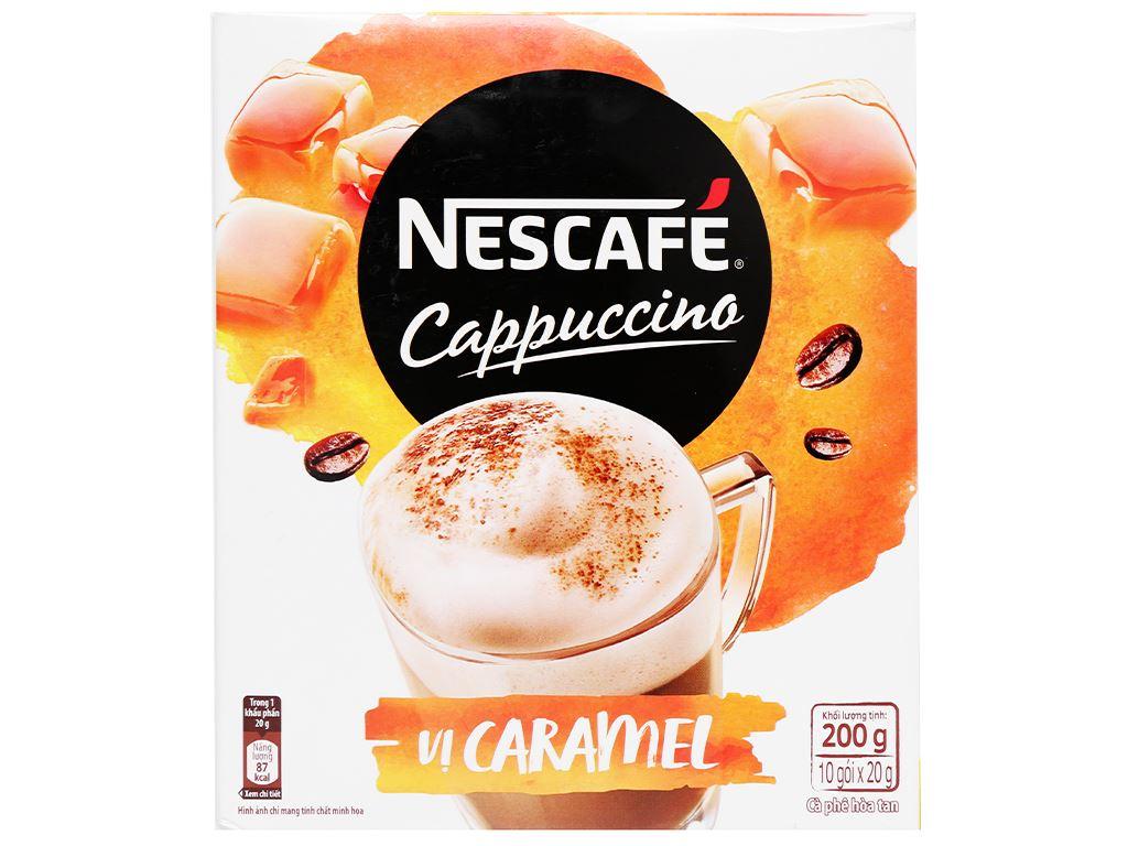 Cà phê Cappuccino NesCafé vị caramel 200g 2