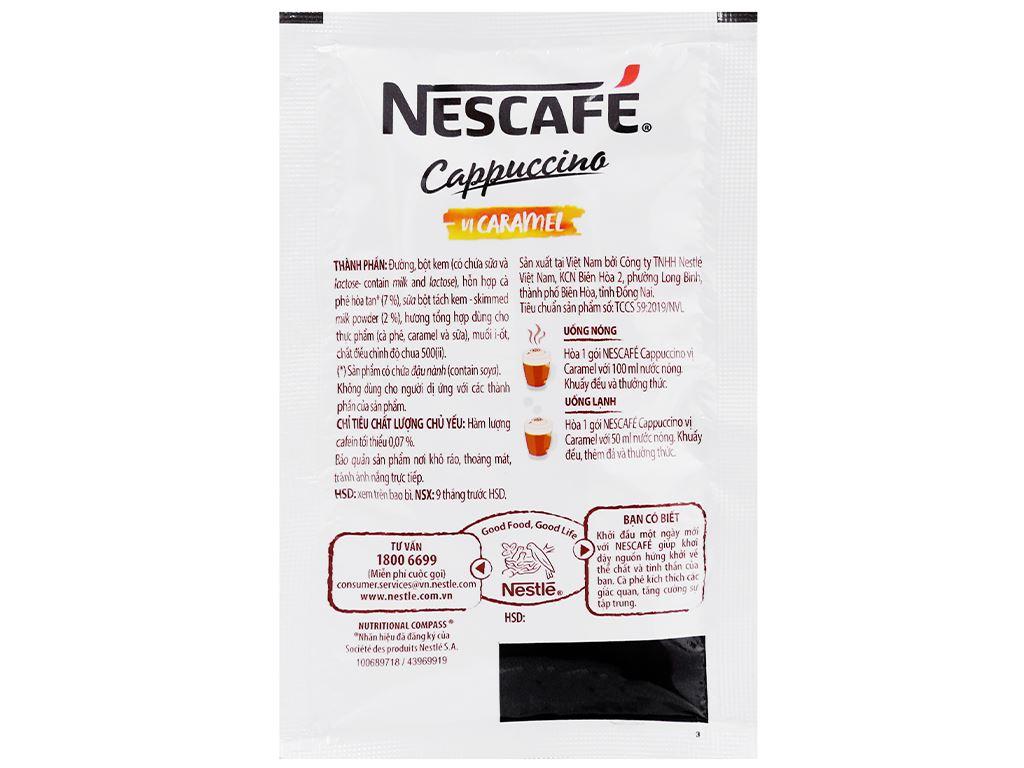 Cà phê Cappuccino NesCafé vị caramel 200g 7