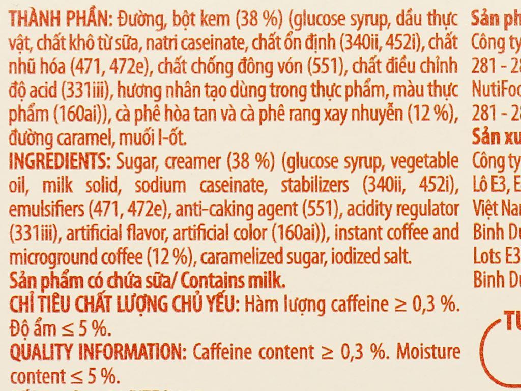 Cà phê sữa nóng tươi NUTICAFÉ 255g 7