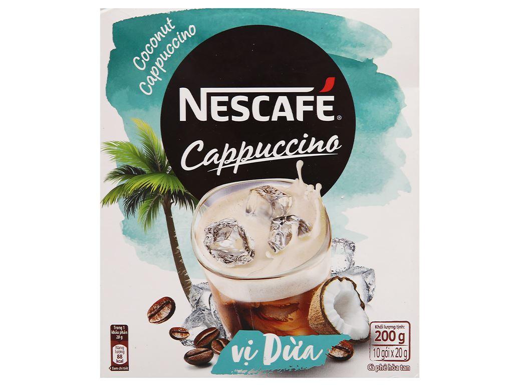 Cà phê Cappuccino NesCafé vị dừa 200g 1