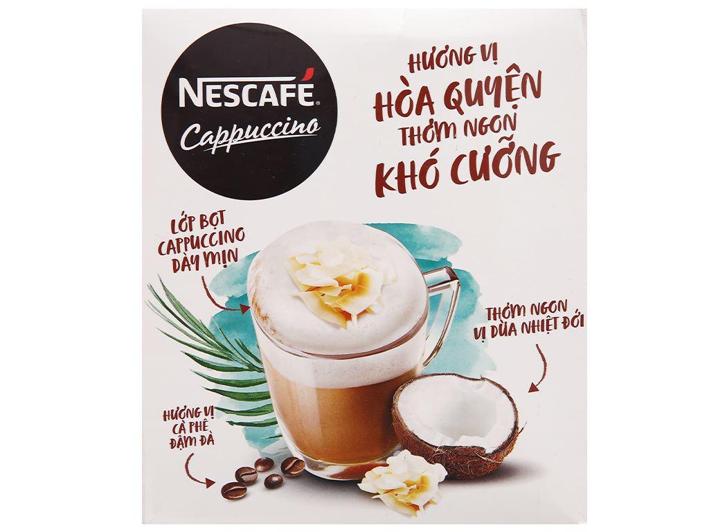 Cà phê Cappuccino NesCafé vị dừa 200g 2