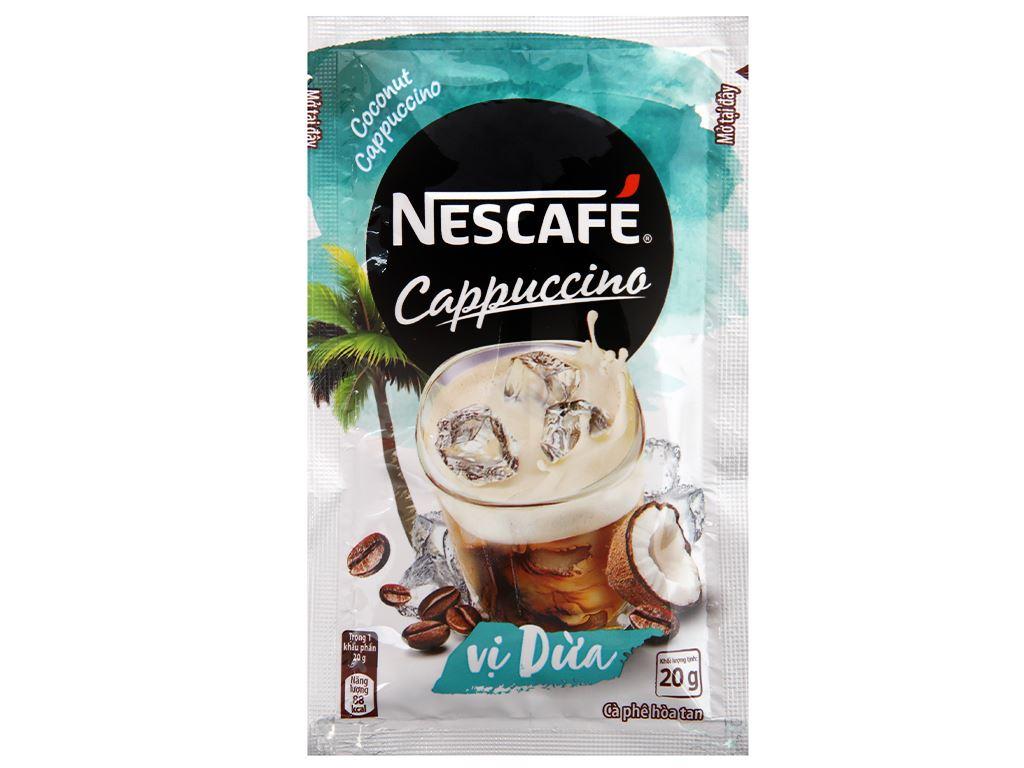 Cà phê Cappuccino NesCafé vị dừa 200g 7
