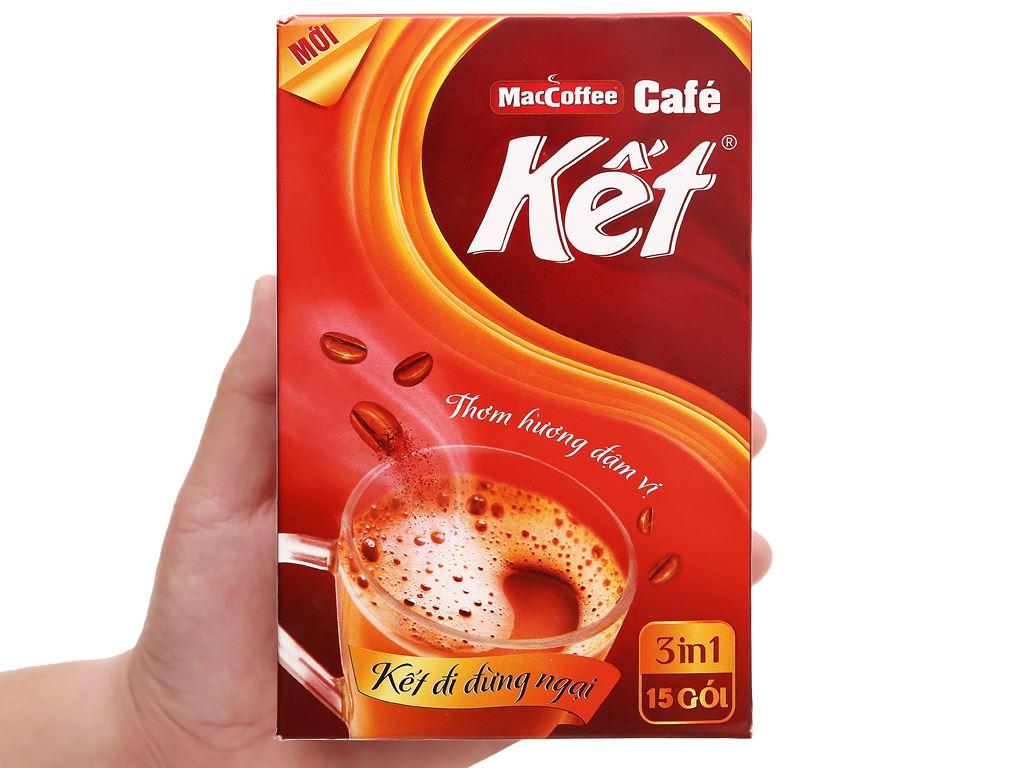 Cà phê sữa MacCoffee Cafe Kết 300g ( 15 gói x 20g ) 2