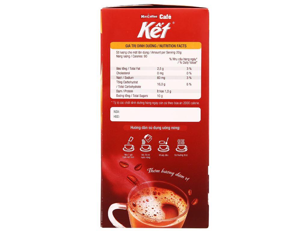 Cà phê sữa MacCoffee Cafe Kết 300g ( 15 gói x 20g ) 3