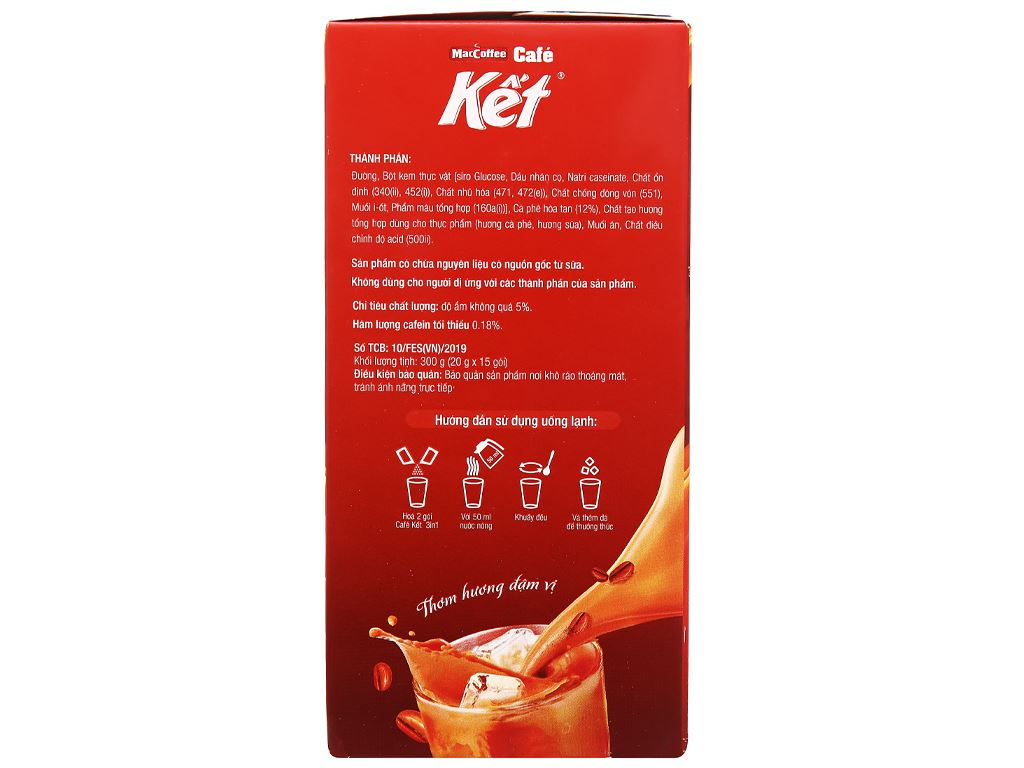 Cà phê sữa MacCoffee Cafe Kết 300g ( 15 gói x 20g ) 4