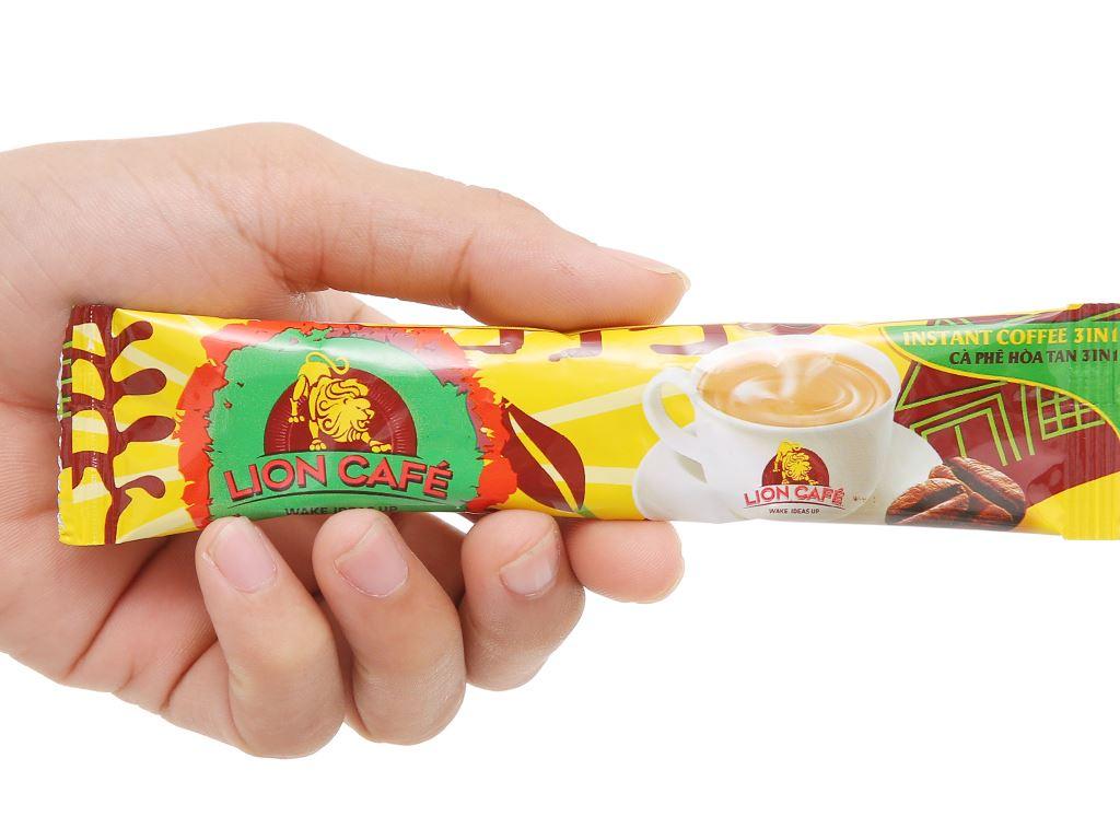 Cà phê hòa tan Latte dừa Lion 4 in 1 180g 6