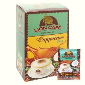 Cà phê hòa tan Cappuccino dừa Lion 4 in 1 360g (20 gói x 18g)