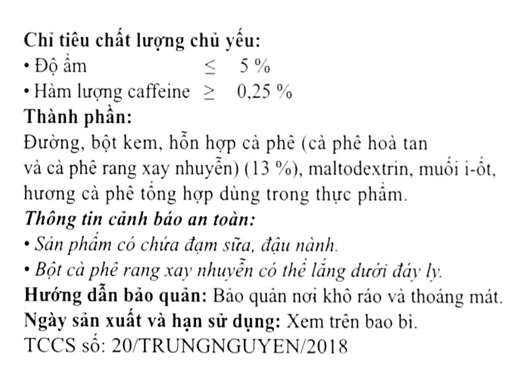 Cà phê hòa tan Trung Nguyên Legend Classic 204g ( 12 gói x 17g ) 8