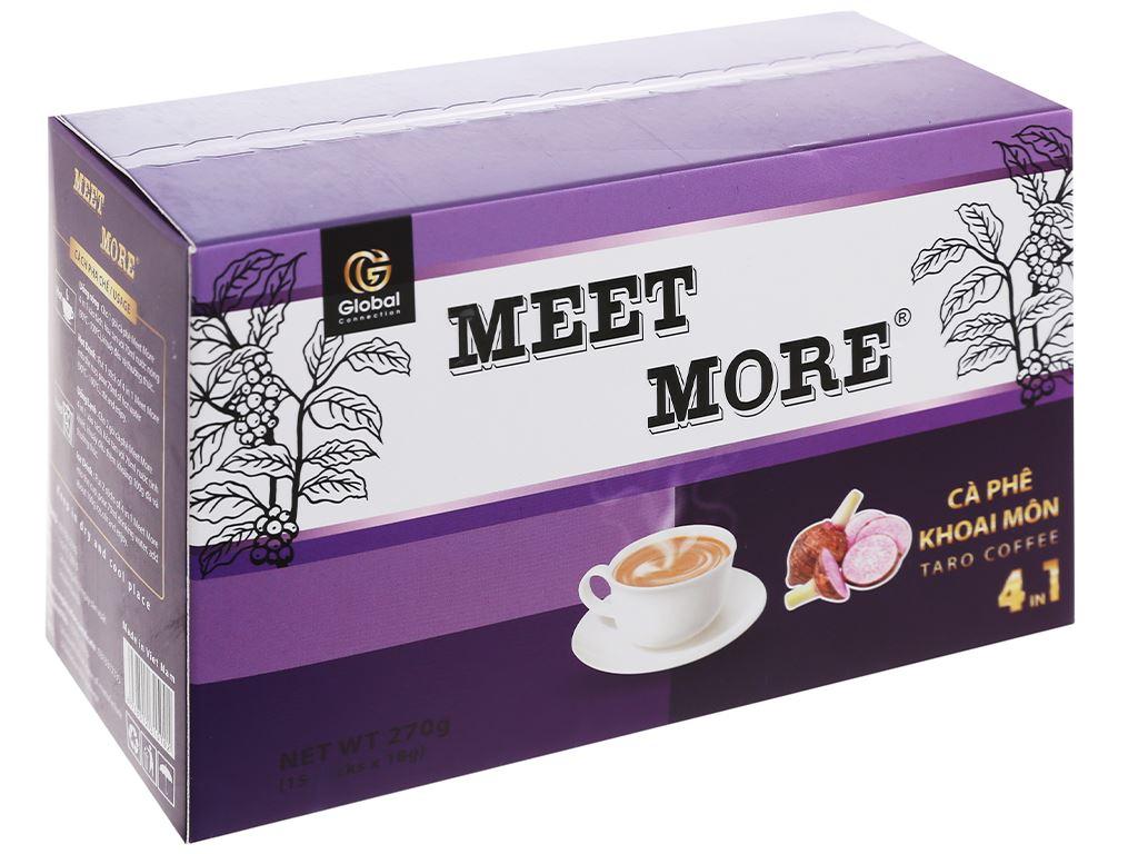 Cà phê hòa tan Meet more 4 in 1 hương khoai môn 270g 1