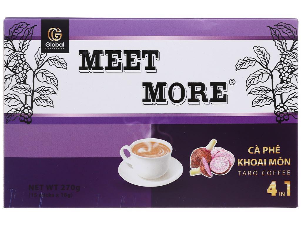 Cà phê hòa tan Meet more 4 in 1 hương khoai môn 270g 2