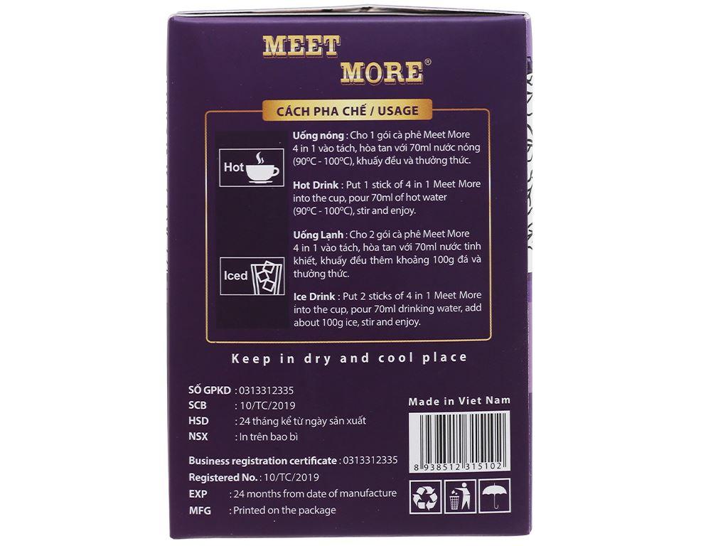 Cà phê hòa tan Meet more 4 in 1 hương khoai môn 270g 4