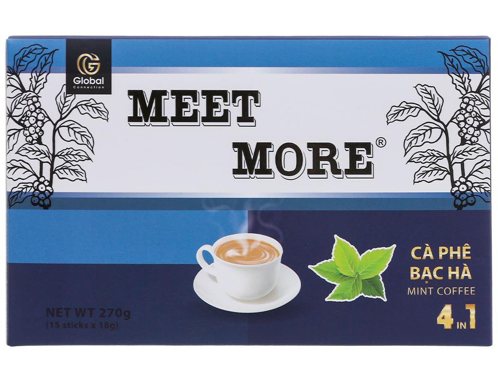 Cà phê hòa tan Meet more 4 in 1 hương bạc hà 270g 2