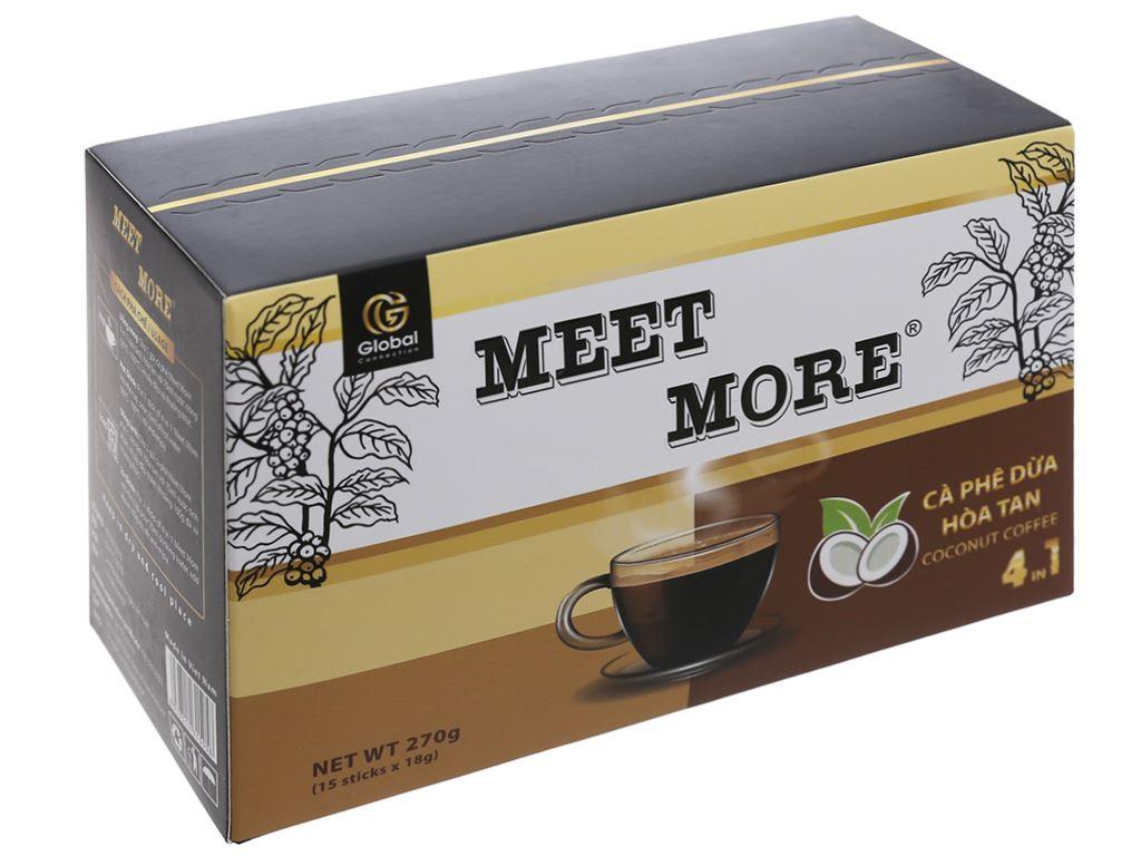 Cà phê hòa tan Meet more 4 in 1 hương dừa 270g 1