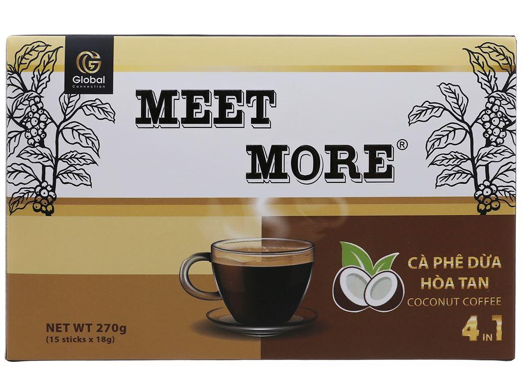 Cà phê hòa tan Meet more 4 in 1 hương dừa 270g 2