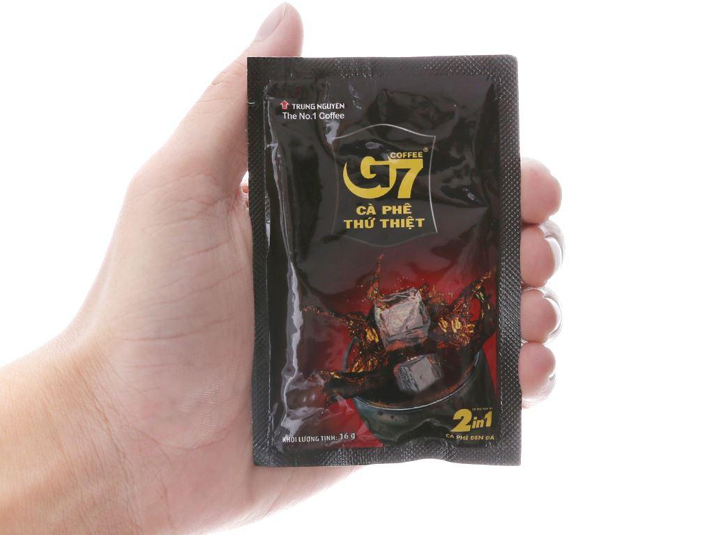 Cà phê đen hòa tan G7 2 trong 1 240g (16g x 15 gói) 5