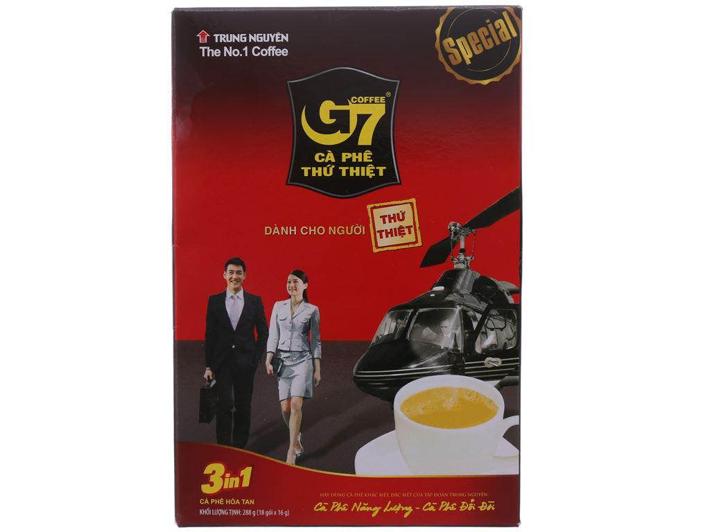 Cà phê sữa hòa tan G7 3 trong 1 288g (16g x 18 gói) 1