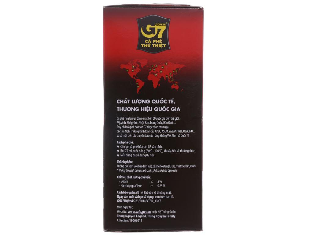 Cà phê sữa hòa tan G7 3 trong 1 288g (16g x 18 gói) 2